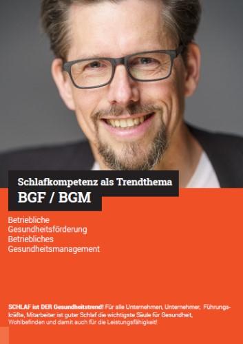 Cover BGF BGM Schlafkompetenz als Trendthema